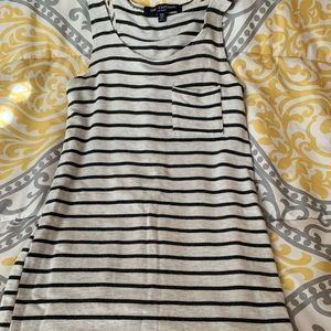 Olive and Cream Striped Tank Top